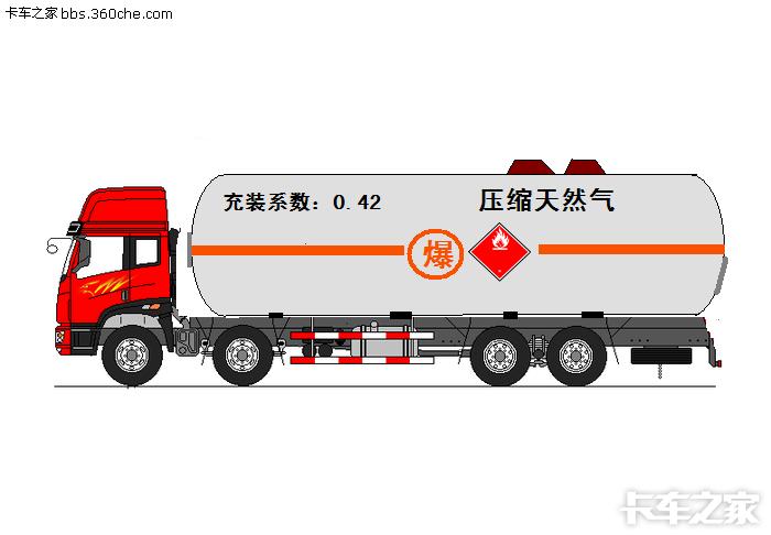 解放奥威8x4天然气罐车