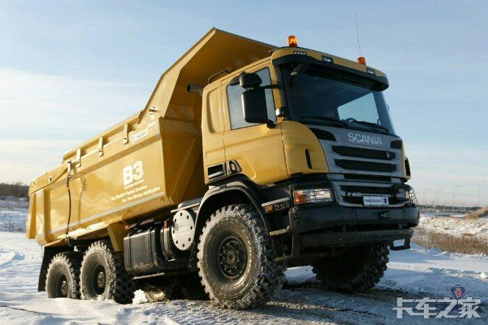 装有比诺托液压油缸b3技术的斯堪尼亚自卸车图片
