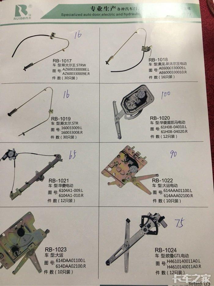 生产重汽玻璃升降器