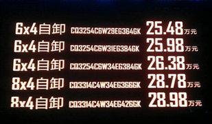 红岩新金刚自卸底盘正式上市 价格已公布